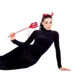 Mujer vestida como imp Fotografía de archivo libre de regalías
