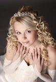 Mujer vestida como novia. Fotografía de archivo libre de regalías