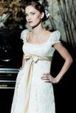 Mujer vestida como novia Imagenes de archivo