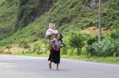 Mujer vietnamita en el norte de Vietnam Fotografía de archivo