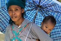 Mujer vietnamita en el norte de Vietnam Fotografía de archivo libre de regalías