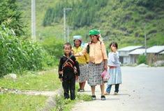 Mujer vietnamita en el norte de Vietnam Fotos de archivo libres de regalías