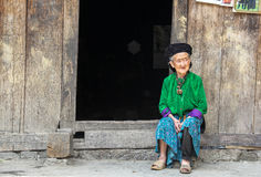 Mujer vietnamita en el norte de Vietnam Imágenes de archivo libres de regalías