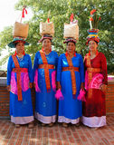 Mujer vietnamita, vestido tradicional Fotos de archivo