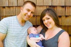 Mujer y bebé del hombre Fotografía de archivo