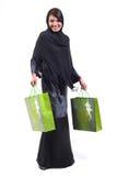Mujer y bolso de compras Imagen de archivo libre de regalías