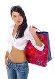 Mujer y compras imagen de archivo libre de regalías