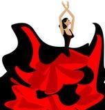 Mujer y danza del flamenco libre illustration