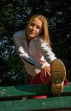 Mujer y deporte Imágenes de archivo libres de regalías