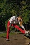 Mujer y deporte Fotos de archivo libres de regalías
