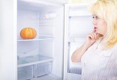 Mujer y dieta fotografía de archivo
