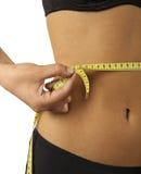 Mujer y dieta Imagen de archivo libre de regalías