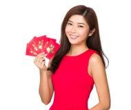 Mujer y dinero suelto chino Foto de archivo libre de regalías