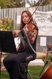 Mujer y el violín Foto de archivo libre de regalías