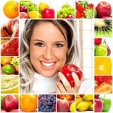 Mujer y frutas Fotografía de archivo