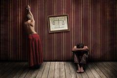 Mujer y hombre Imagen de archivo libre de regalías