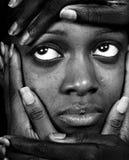 Mujer y manos Imagen de archivo
