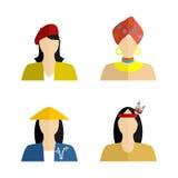Mujer y nacionalidad Imágenes de archivo libres de regalías