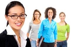 Mujer y personas de negocios Foto de archivo libre de regalías