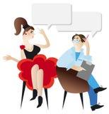 Mujer y psicólogo. Fotografía de archivo libre de regalías