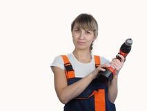 Mujer y reparación Fotografía de archivo libre de regalías