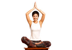 Mujer y yoga fotografía de archivo