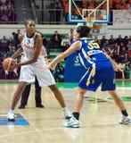 Mujeres 2009-2010 de EuroLeague. Imagenes de archivo
