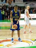 Mujeres 2009-2010 de EuroLeague. Imágenes de archivo libres de regalías