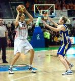 Mujeres 2009-2010 de EuroLeague. Imagen de archivo libre de regalías