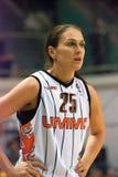 Mujeres 2009-2010 de EuroLeague. Foto de archivo libre de regalías