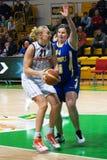 Mujeres 2009-2010 de EuroLeague. Fotos de archivo