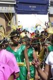 Mujeres adentro en el carnaval de Notting Hill Imágenes de archivo libres de regalías