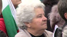 Mujeres búlgaras en una reunión en Sofía Imagen de archivo libre de regalías