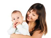 Mujeres bastante jovenes con su hijo Foto de archivo libre de regalías