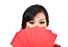 Mujeres bonitas con el cheongsam Imagen de archivo libre de regalías