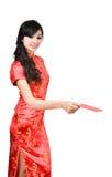 Mujeres bonitas con el cheongsam Fotos de archivo libres de regalías