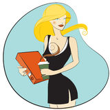 Mujeres bonitas en la oficina libre illustration