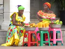 Mujeres colombianas foto de archivo