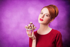 Mujeres con el caramelo Fotos de archivo