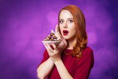 Mujeres con el caramelo Foto de archivo