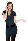 Mujeres con el teléfono mopbile Foto de archivo libre de regalías