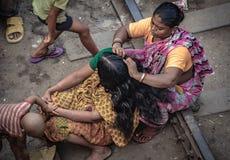 Mujeres con forma de vida diaria en Bangladesh fotografía de archivo