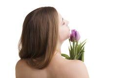 Mujeres con las flores Imagen de archivo