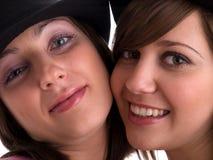 Mujeres con los sombreros Imagen de archivo