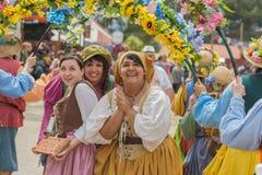 Mujeres con los trajes medievales Foto de archivo libre de regalías
