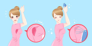 Mujeres con olor corporal ilustración del vector