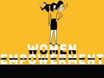Mujeres creativas capacitación del concepto de la palabra y mujeres que hacen cosas libre illustration