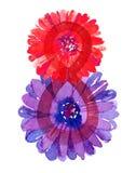 Mujeres día 8 de marzo con la manzanilla de las flores aislada en la acuarela blanca del fondo para la tarjeta de felicitación Foto de archivo libre de regalías