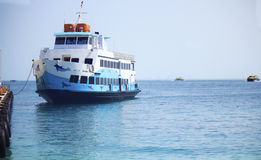 Mujeres d'isla de catamaran Photos libres de droits