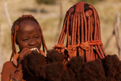 Mujeres de Himba Fotos de archivo libres de regalías